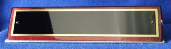 572 Rosewood Finish Desk Name Plate