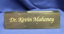 8 Inch Black Marble Desk Name Plate