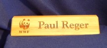 Bamboo Desk Name Plate