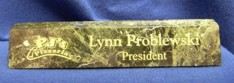 NH-112 Green Marble Desk Name Plate